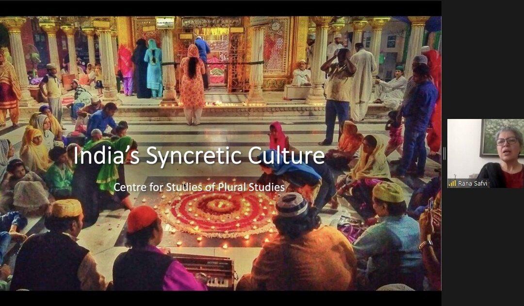 Seminar Lecture: India's Syncretic Culture by Rana Safvi